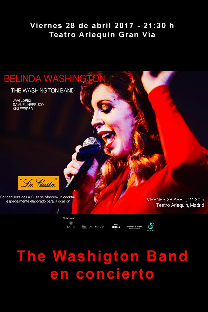 Belinda Washington, the Washigton Band en concerto
